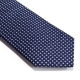 Cravate Coton Bleu Marine Fait Main Made in France