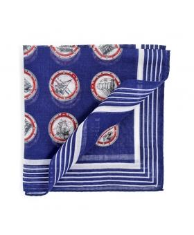 Pochette Costume Coton Bleu Motifs Marins