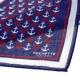 Pochette Costume Coton Bleu Marine Motifs Marins
