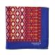 Pochette Costume Soie Rouge Geometrique