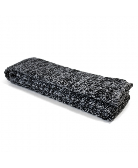Black Cotton Knit Tie