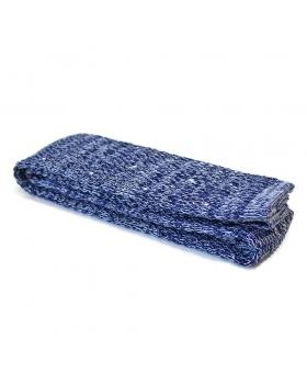 Cravate Tricot Coton Bleu Chiné