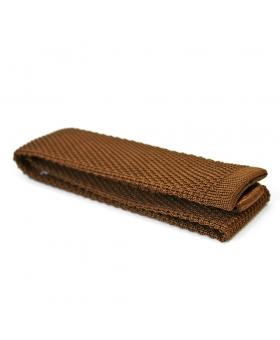 Cravate Tricot Soie Tabac