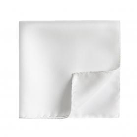 Pochette de Costume Drapeau Blanc (Soie)