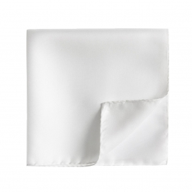 Pochette Costume - Drapeau Blanc (Soie)