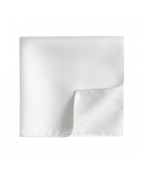 pochette de costume blanche unie en soie