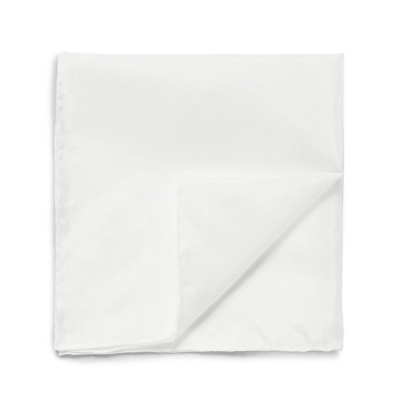 pochette de costume en coton blanc