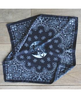 Foulard de moto en soie bandana noir