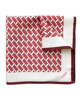 foulard en soie rouge et bordeaux