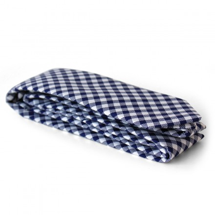 cravate en coton vichy marine