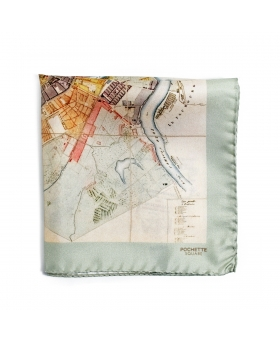 pocket square with the map of saint petersburg
