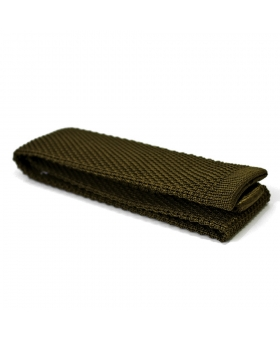 green knitted tie 100% silk