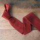 Cravate tricot de soie rouge brique