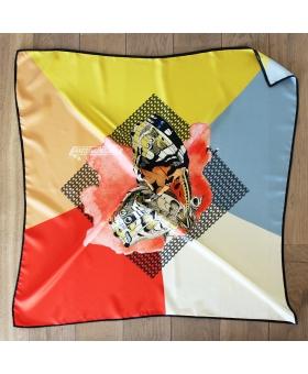 foulard en soie 90x90cm papillon