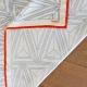 foulard en soie 90x90cm noir blanc lisere orange