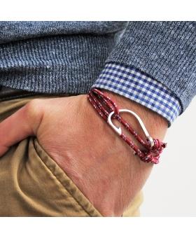 Bracelet Hameçon - Rouge & bleu