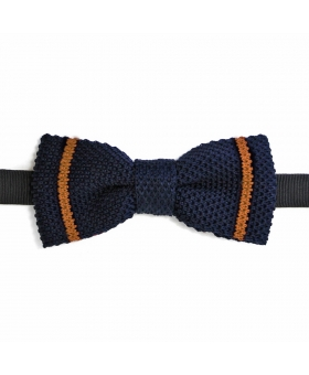 navy knitted bow tie