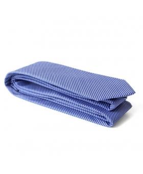 Cravate coton rayures bleues et blanches