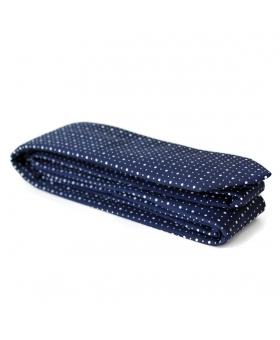 Cravate bleu marine coton pois blancs mad ein France