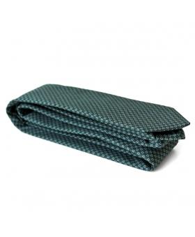 Cravate tricot faux-uni verte