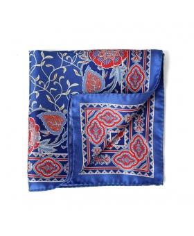 pochette costume bleu fleurs