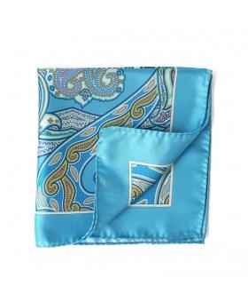 pochette costume turquoise