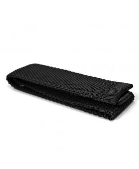 Cravate Tricot Soie Noire