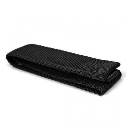 Black Silk Knit Tie
