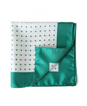 pochette costume pois vert