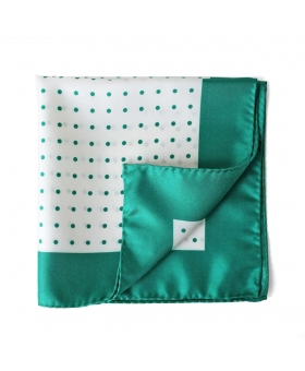 pocket square with green dots