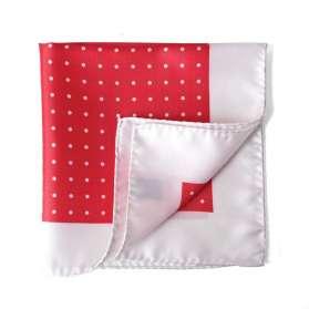 Pocket Square Trois, Dot, Un - Coral