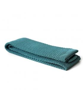 cravate tricot vert d'eau