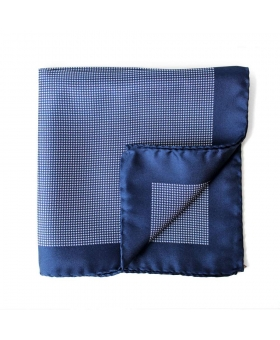 pocket square blue houndstooth