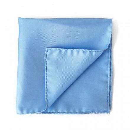 Pochette Costume Soie Bleu Clair