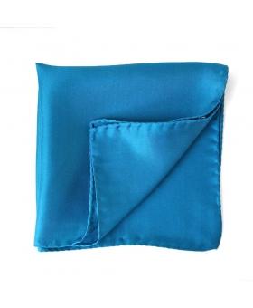 Pochette Costume Bleue Soie