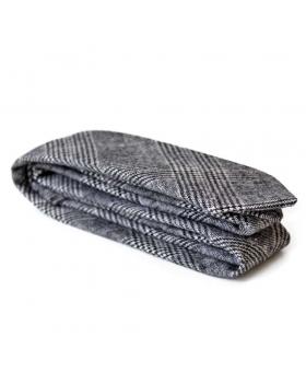 Cravate laine grise