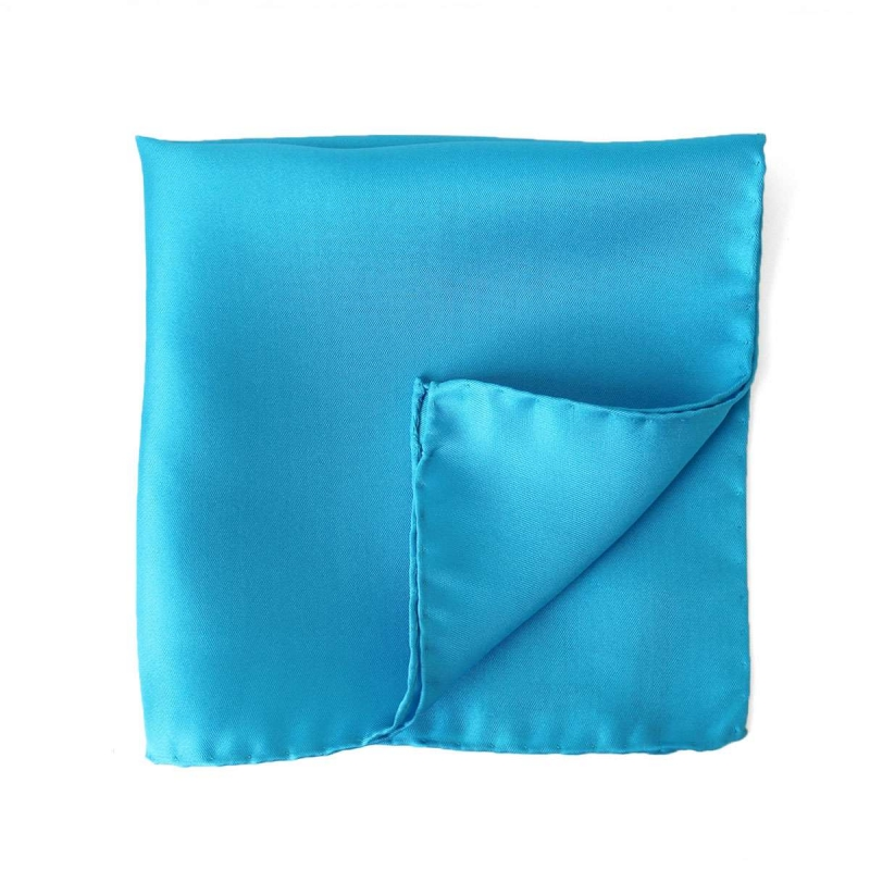 Blue Turquoise Silk Pocket Square
