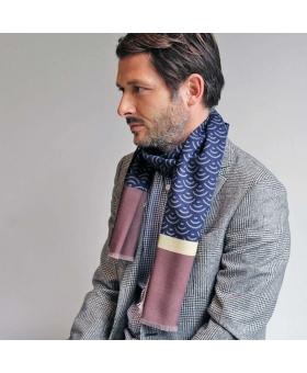 écharpe bleu en laine