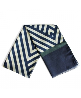écharpes bleu et blanche