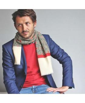 écharpe bleu blanc rouge en laine