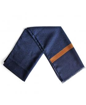 Echarpe bleu en laine