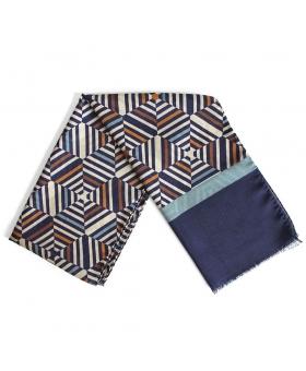 écharpe bleu marine