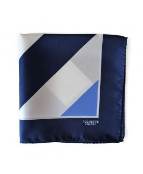 pochette rayures bleu blanc navy