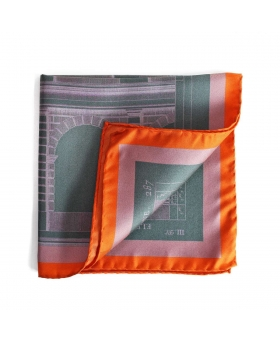 pocket square orange and green