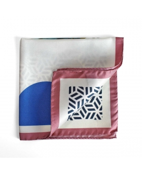 pocket square white with patterns