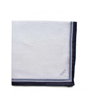 Pochette blanche en lin Bleu & Marine