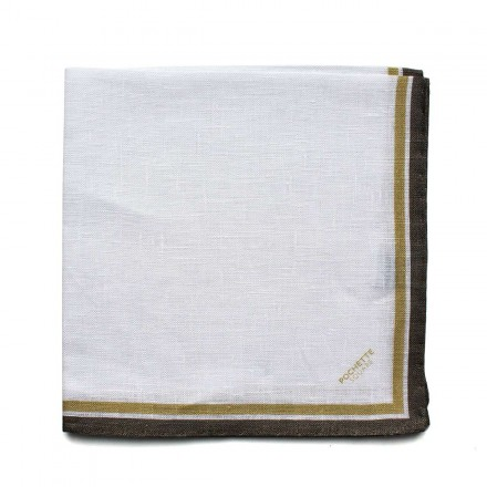 pochette costume lin blanc