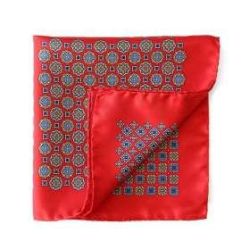 Pocket Square Le Club des 4 - Red