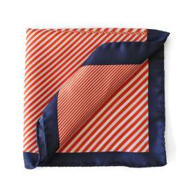Pochette de Costume Comic Stripes - Rouge Orangé