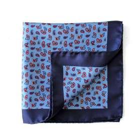 Pochette de Costume Sea of Paisley - Bleu